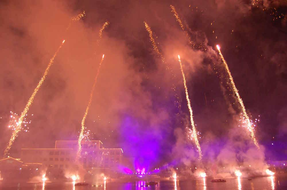 fireworks light show